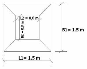 Plan of Trapezoidal Footing