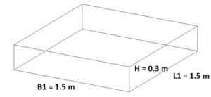 Square cubic area