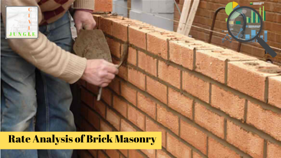 Rate Analysis of Brick Masonry