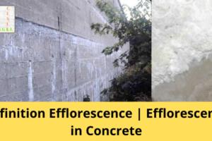 Efflorescence in Concrete