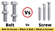 Bolt Vs Screw