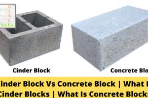 Cinder Block Vs Concrete Block