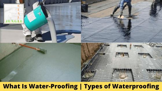 What Is Water-Proofing | Types of Waterproofing