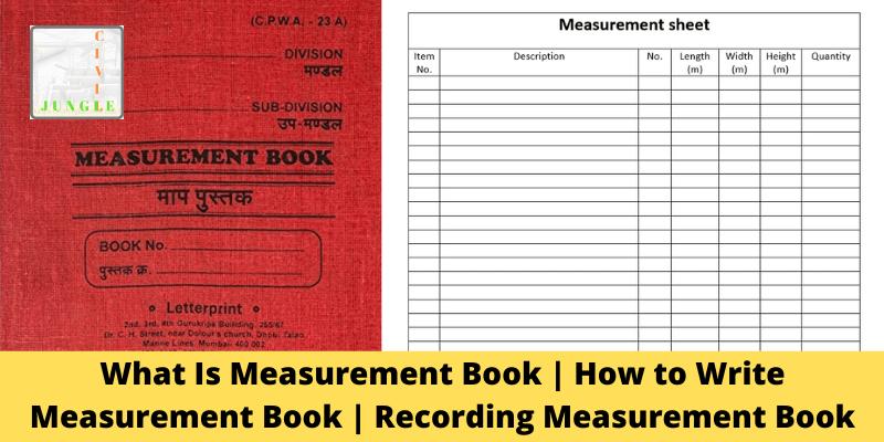 measurement book