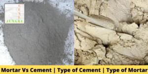 Mortar Vs Cement